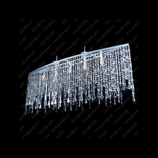 Pendul modern cristal Bohemia  L17 010/05/2, 3, 3-SK; Ni, Pendule Cristal Bohemia, Corpuri de iluminat, lustre, aplice a