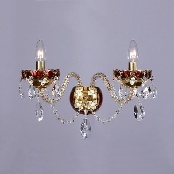 Aplica cristal Bohemia N23 001/02/1-A; GOLD, F ruby, Magazin, Corpuri de iluminat, lustre, aplice, veioze, lampadare, plafoniere. Mobilier si decoratiuni, oglinzi, scaune, fotolii. Oferte speciale iluminat interior si exterior. Livram in toata tara.  a
