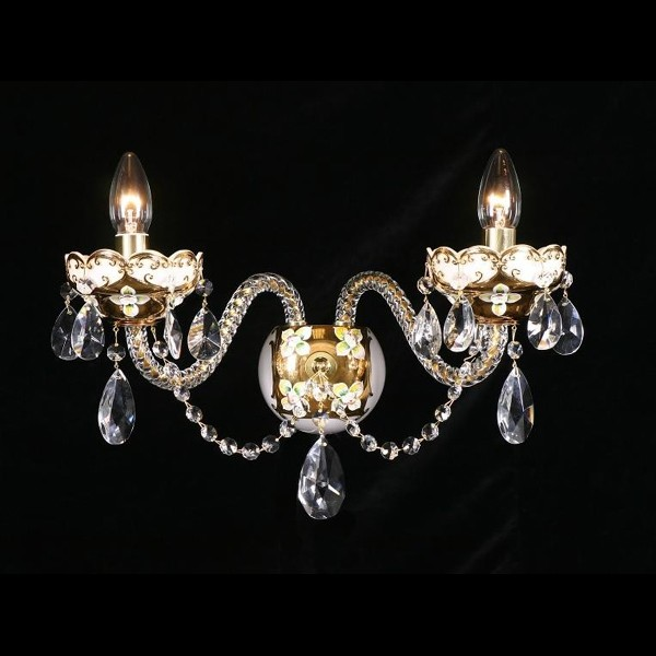 Aplica cristal Bohemia N23 001/02/1-A; GOLD, F white, Magazin, Corpuri de iluminat, lustre, aplice, veioze, lampadare, plafoniere. Mobilier si decoratiuni, oglinzi, scaune, fotolii. Oferte speciale iluminat interior si exterior. Livram in toata tara.  a