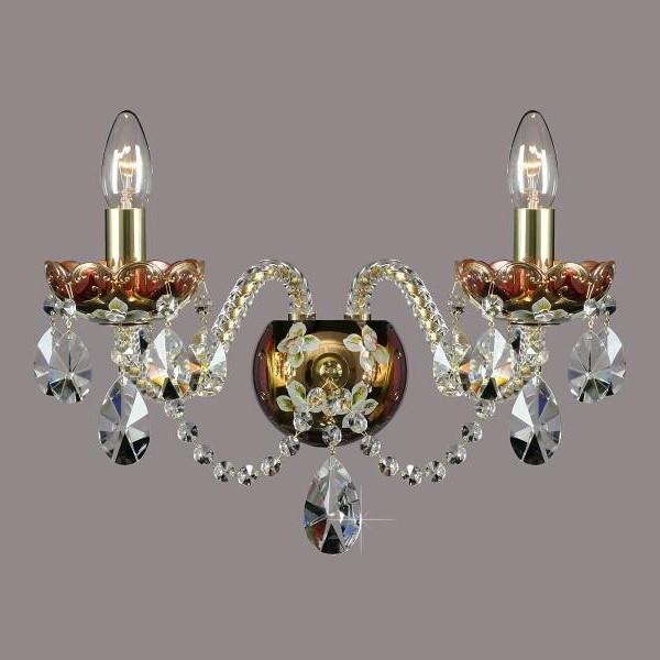 Aplica cristal Bohemia N23 001/02/1-A; GOLD, F rosaline, Magazin, Corpuri de iluminat, lustre, aplice a