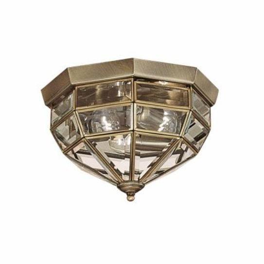 Plafonier clasic brass antique diam. 26 cm NORMA PL3 004426, Plafoniere, Spots, Corpuri de iluminat, lustre, aplice, veioze, lampadare, plafoniere. Mobilier si decoratiuni, oglinzi, scaune, fotolii. Oferte speciale iluminat interior si exterior. Livram in toata tara.  a