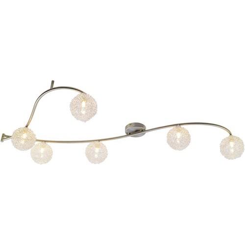 Lustra New Design 56611-6 GL, Spoturi - iluminat - cu 5 si 6 spoturi, Corpuri de iluminat, lustre, aplice a
