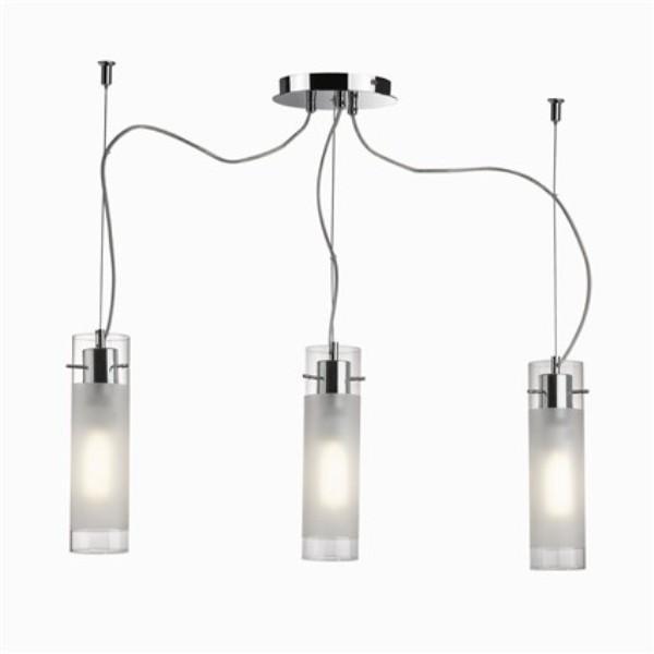 Pendul modern pyrex glass FLAM SP3 033921, Pendule, Lustre suspendate, Corpuri de iluminat, lustre, aplice a