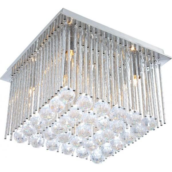 Plafonier elegant cu cristale Janina 68348-6 GL, PROMOTII, Corpuri de iluminat, lustre, aplice, veioze, lampadare, plafoniere. Mobilier si decoratiuni, oglinzi, scaune, fotolii. Oferte speciale iluminat interior si exterior. Livram in toata tara.  a