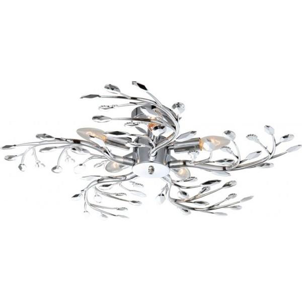 Lustra moderna diametru 65cm Flash 68546-5 GL, Lustre moderne aplicate, Corpuri de iluminat, lustre, aplice, veioze, lampadare, plafoniere. Mobilier si decoratiuni, oglinzi, scaune, fotolii. Oferte speciale iluminat interior si exterior. Livram in toata tara.  a