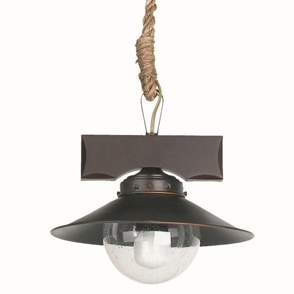 Pendul rustc stil marinar diametru 24cm Nudos 68139, ILUMINAT INTERIOR RUSTIC, Corpuri de iluminat, lustre, aplice a