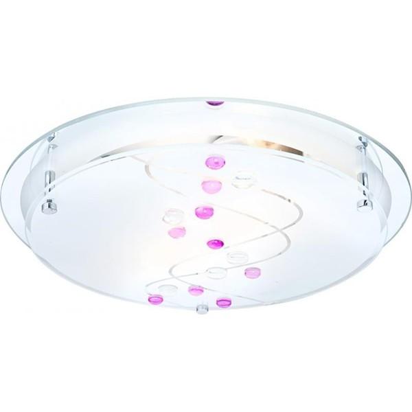 Plafonier cu oglinda si pietre color diam. 32cm Ballerina 48070-2 GL, Plafoniere moderne, Corpuri de iluminat, lustre, aplice a