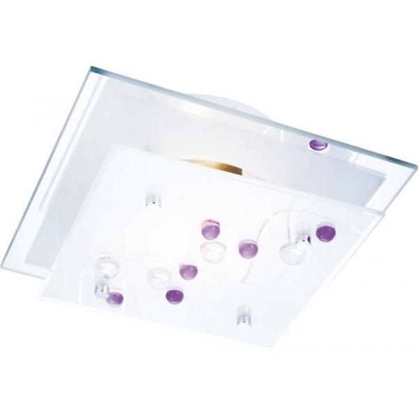 Plafonier cu oglinda si pietre color Ballerina 48072 GL, Plafoniere moderne, Corpuri de iluminat, lustre, aplice a