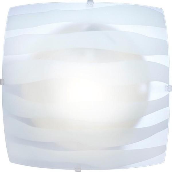 Plafoniera patrata 25x25cm Cedric 40981 GL, Plafoniere moderne, Corpuri de iluminat, lustre, aplice a