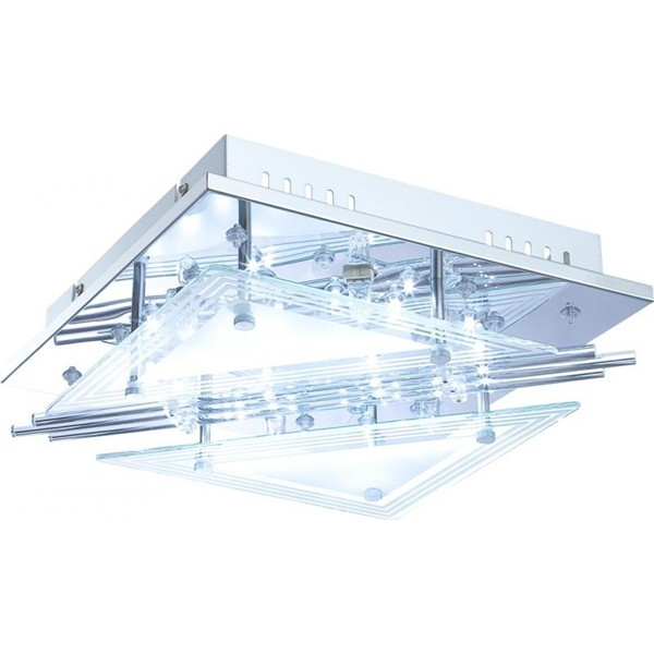 Plafoniera LED cu Telecomanda Spinosa 68246-4 GL, Lampi LED si Telecomanda, Corpuri de iluminat, lustre, aplice a