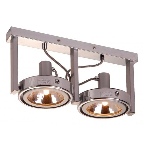 Aplica cu doua spoturi directionabile Kuriana 5645-2 GL, Spoturi incastrate, aplicate - tavan / perete, Corpuri de iluminat, lustre, aplice a