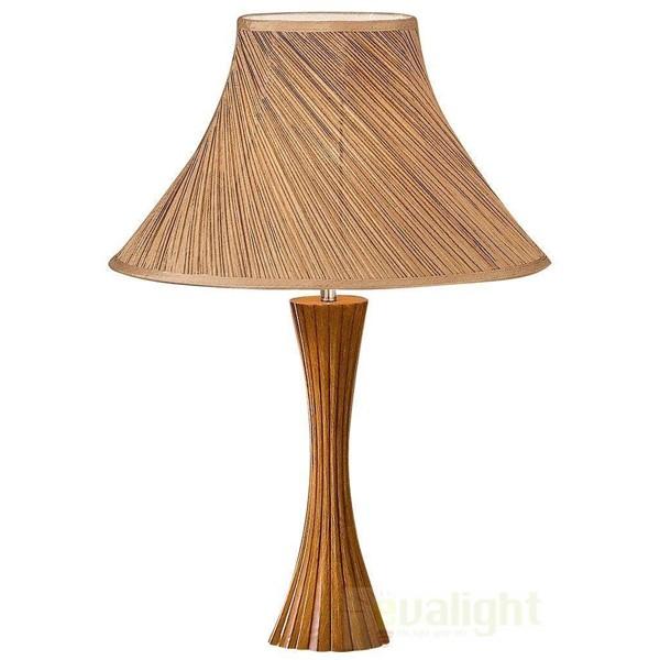Veioza, lampa de masa cu lemn BIVA-50 TL1 SMALL 017716, Veioze, Corpuri de iluminat, lustre, aplice, veioze, lampadare, plafoniere. Mobilier si decoratiuni, oglinzi, scaune, fotolii. Oferte speciale iluminat interior si exterior. Livram in toata tara.  a
