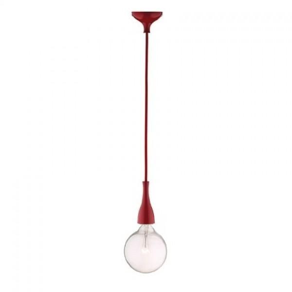 Pendul modern diametru 12cm MINIMAL SP1 Rosso 009414, NOU ! Lustre VINTAGE, RETRO, INDUSTRIA Style, Corpuri de iluminat, lustre, aplice a