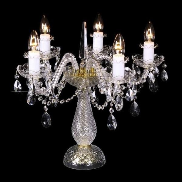 Veioza 5 brate cristal Bohemia S31 009/05/1-A; lip., Veioze Cristal Bohemia, Corpuri de iluminat, lustre, aplice a