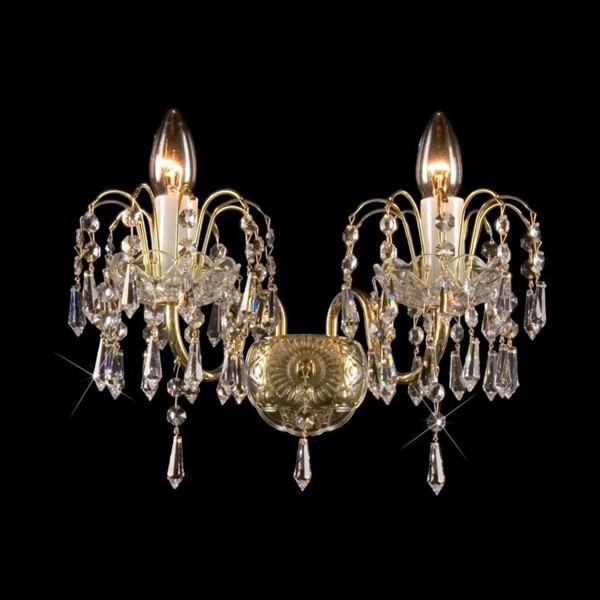 Aplica de perete Lux 2 brate cristal Bohemia N25 590/02/3, PROMOTII, Corpuri de iluminat, lustre, aplice, veioze, lampadare, plafoniere. Mobilier si decoratiuni, oglinzi, scaune, fotolii. Oferte speciale iluminat interior si exterior. Livram in toata tara.  a