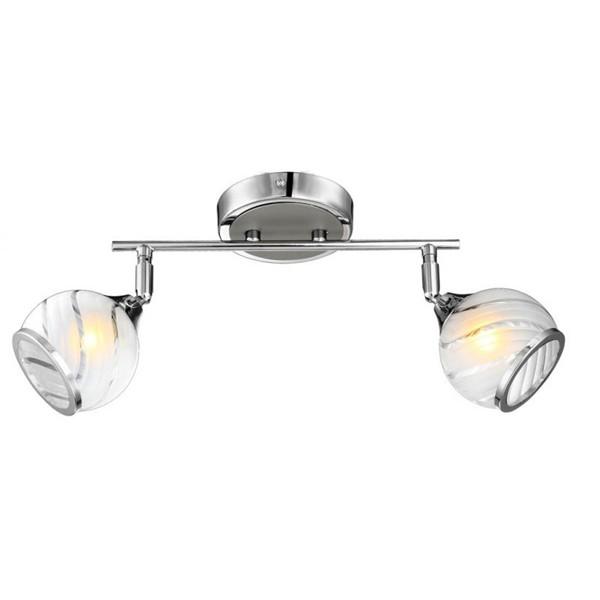 Aplica de perete moderna Aila 56568-2 GL, Spoturi - iluminat - cu 2 spoturi, Corpuri de iluminat, lustre, aplice a