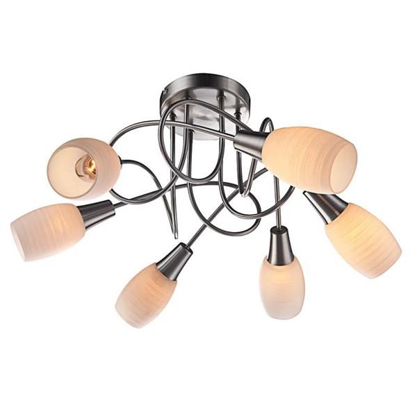 Lustra moderna Gillian 54983-6D GL, Lustre moderne aplicate, Corpuri de iluminat, lustre, aplice, veioze, lampadare, plafoniere. Mobilier si decoratiuni, oglinzi, scaune, fotolii. Oferte speciale iluminat interior si exterior. Livram in toata tara.  a