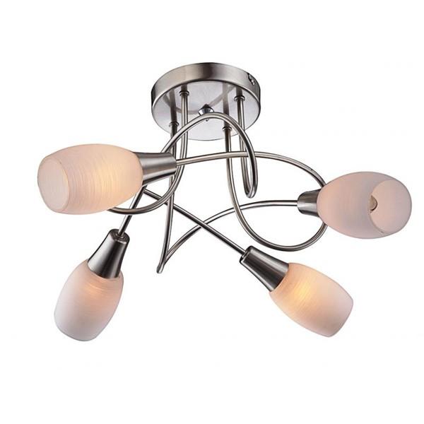 Lustra moderna Gillian 54983-4D GL, Lustre moderne aplicate, Corpuri de iluminat, lustre, aplice, veioze, lampadare, plafoniere. Mobilier si decoratiuni, oglinzi, scaune, fotolii. Oferte speciale iluminat interior si exterior. Livram in toata tara.  a