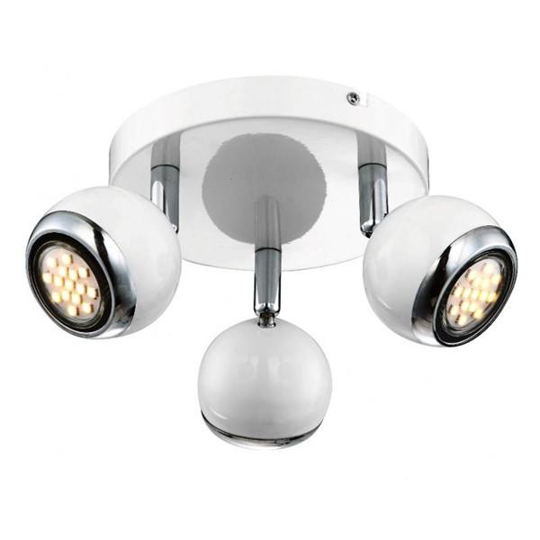 Lustra moderna LED Oman 57882-3 GL, PROMOTII, Corpuri de iluminat, lustre, aplice, veioze, lampadare, plafoniere. Mobilier si decoratiuni, oglinzi, scaune, fotolii. Oferte speciale iluminat interior si exterior. Livram in toata tara.  a