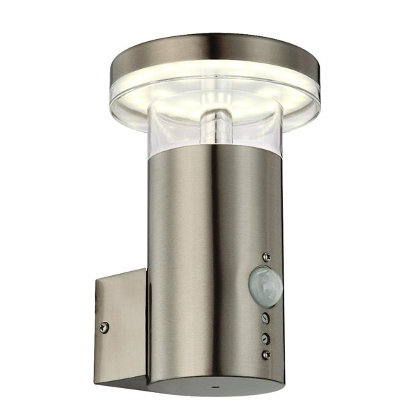 Aplica de perete moderna cu senzor, LED, IP44 Sergio 34145S GL, ILUMINAT EXTERIOR, Corpuri de iluminat, lustre, aplice a