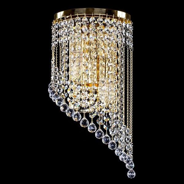 Aplica cristal Swarovski auriu sau argintiu Gwen right SP, Aplice Cristal Swarovski, Corpuri de iluminat, lustre, aplice, veioze, lampadare, plafoniere. Mobilier si decoratiuni, oglinzi, scaune, fotolii. Oferte speciale iluminat interior si exterior. Livram in toata tara.  a