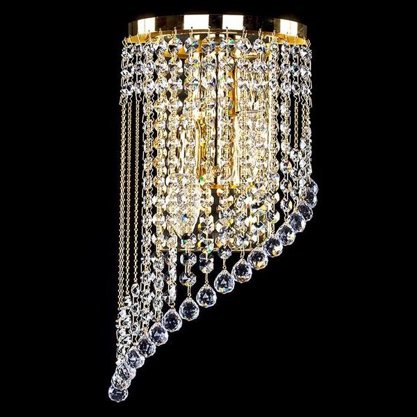 Aplica cristal Swarovski auriu sau argintiu Gwen left SP, Aplice Cristal Swarovski, Corpuri de iluminat, lustre, aplice, veioze, lampadare, plafoniere. Mobilier si decoratiuni, oglinzi, scaune, fotolii. Oferte speciale iluminat interior si exterior. Livram in toata tara.  a