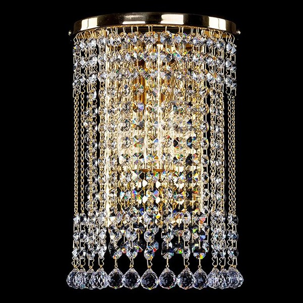 Aplica cristal Swarovski auriu sau argintiu Gwen straight SP, Aplice Cristal Swarovski, Corpuri de iluminat, lustre, aplice, veioze, lampadare, plafoniere. Mobilier si decoratiuni, oglinzi, scaune, fotolii. Oferte speciale iluminat interior si exterior. Livram in toata tara.  a