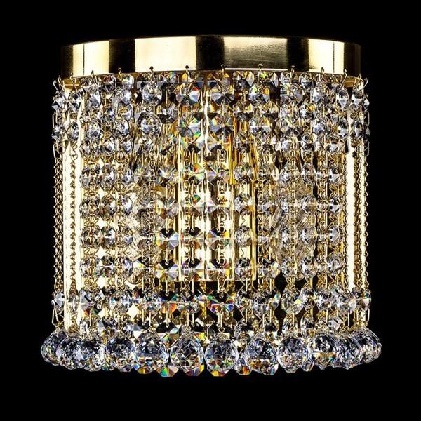 Aplica cristal Swarovski auriu sau argintiu Stana SP, Aplice Cristal Swarovski, Corpuri de iluminat, lustre, aplice, veioze, lampadare, plafoniere. Mobilier si decoratiuni, oglinzi, scaune, fotolii. Oferte speciale iluminat interior si exterior. Livram in toata tara.  a