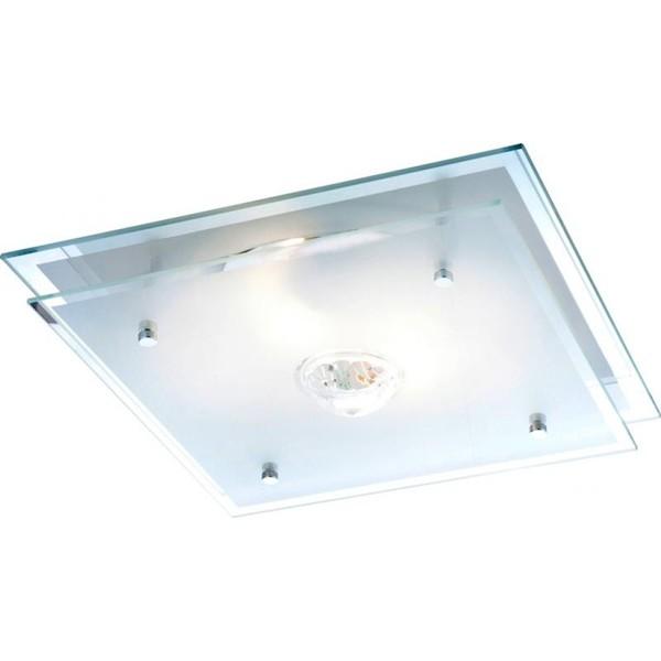 Plafonier 32cm x 32cm cu cristal Malaga 48528 GL, Plafoniere moderne, Corpuri de iluminat, lustre, aplice a