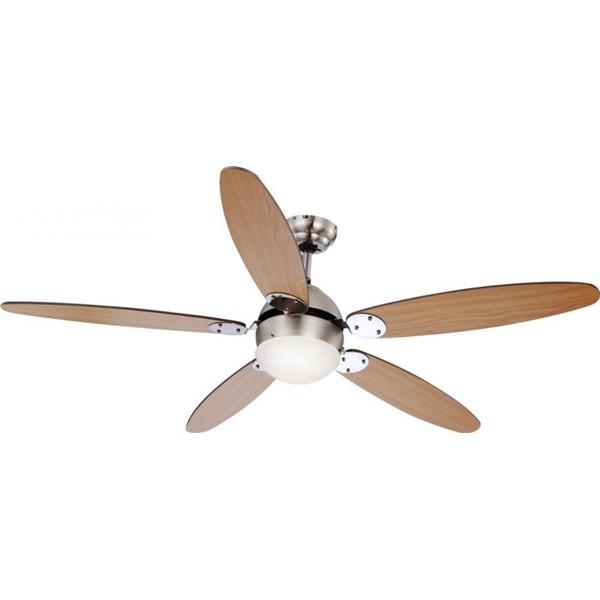 Lustra Ventilator cu palete ventilatie in doua culori Azura 0308 GL, Lustra cu Ventilator, Corpuri de iluminat, lustre, aplice a