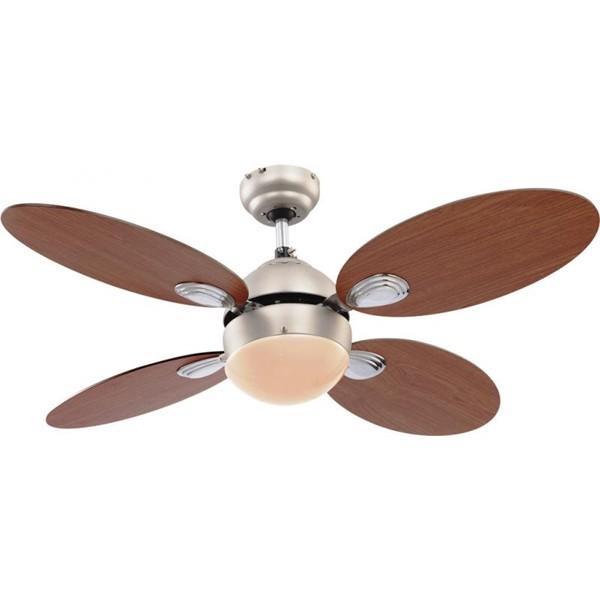 Lustra Ventilator cu palete ventilatie in doua culori Wade 0318 GL, Lustra cu Ventilator, Corpuri de iluminat, lustre, aplice a