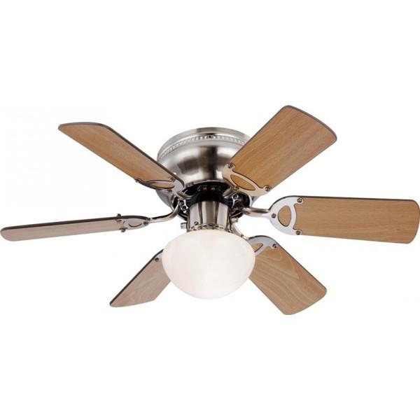 Lustra Ventilator cu palete ventilatie in doua culori Ugo 0307 GL, Lustra cu Ventilator, Corpuri de iluminat, lustre, aplice a
