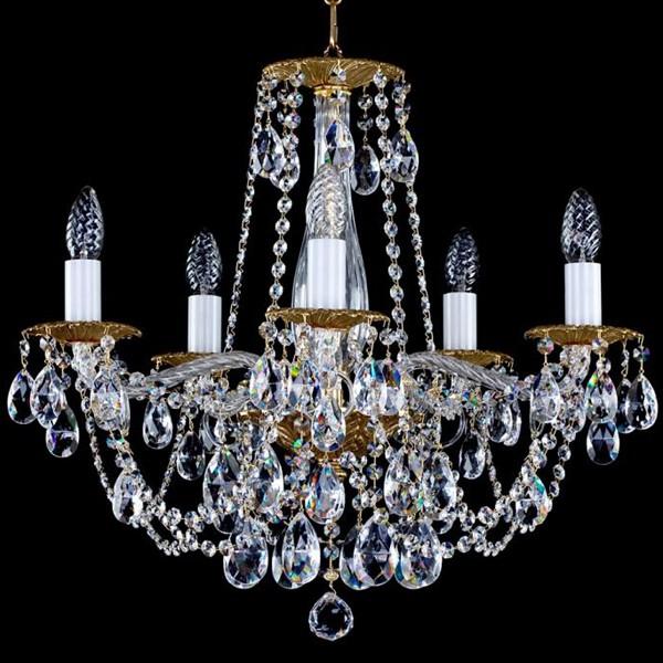 Lustra 5 brate cristal Swarovski Spectra Demeter V SP, Lustre Cristal Swarovski , Corpuri de iluminat, lustre, aplice a