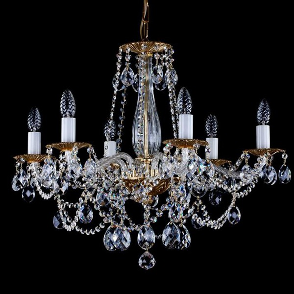 Lustra 6 brate cristal Swarovski Spectra Demeter VI SP, Lustre Cristal Swarovski , Corpuri de iluminat, lustre, aplice a