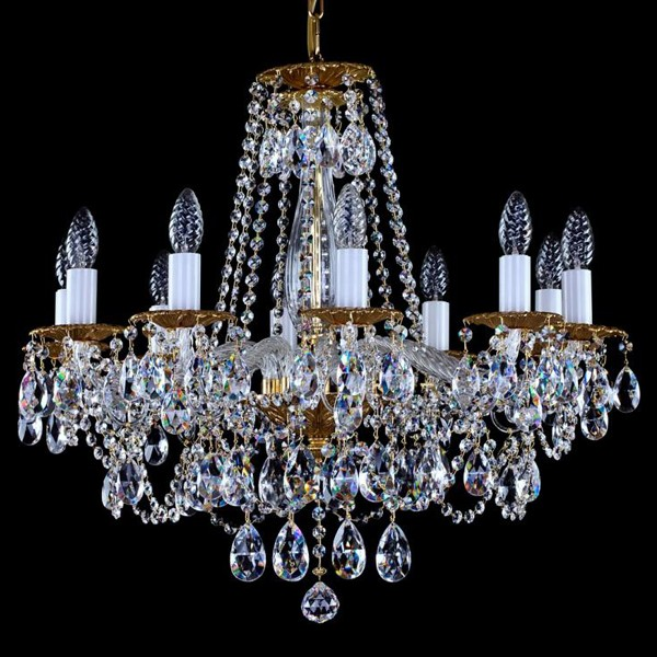 Lustra 10 brate cristal Swarovski Spectra Demeter X SP, Lustre Cristal Swarovski , Corpuri de iluminat, lustre, aplice a
