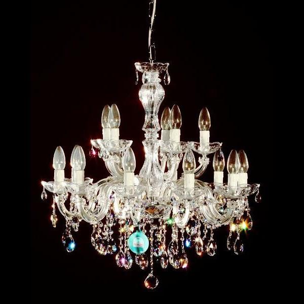Lustra Swarovski 15 brate argintiu diam. 63cm Laura, Lustre Cristal Swarovski , Corpuri de iluminat, lustre, aplice a