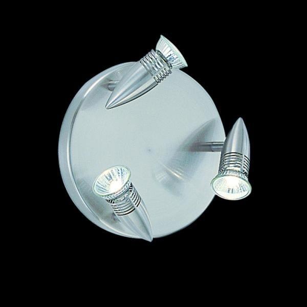 Plafoniera cu 3 spoturi directionabile ALFA PL3 NICKEL 009452, Spoturi - iluminat - cu 3 spoturi, Corpuri de iluminat, lustre, aplice, veioze, lampadare, plafoniere. Mobilier si decoratiuni, oglinzi, scaune, fotolii. Oferte speciale iluminat interior si exterior. Livram in toata tara.  a