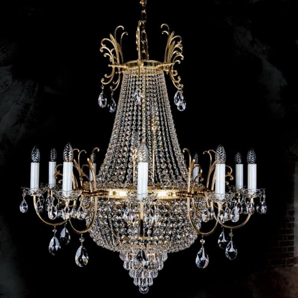 Lustra Cristal Exclusive Imperial Hillary 1000 CE, Lustre Imperial Cristal Bohemia,  a