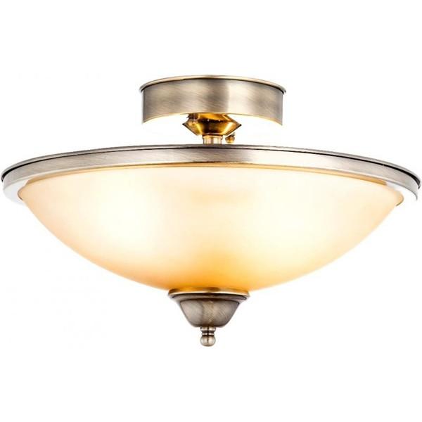 Plafonier diametru 41cm Sassari 6905-2D GL, ILUMINAT INTERIOR RUSTIC, Corpuri de iluminat, lustre, aplice a