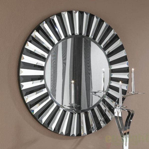 Oglinda decorativa moderna diam.80cm Alberta 29-E35, MOBILA SI DECORATIUNI , Corpuri de iluminat, lustre, aplice, veioze, lampadare, plafoniere. Mobilier si decoratiuni, oglinzi, scaune, fotolii. Oferte speciale iluminat interior si exterior. Livram in toata tara.  a
