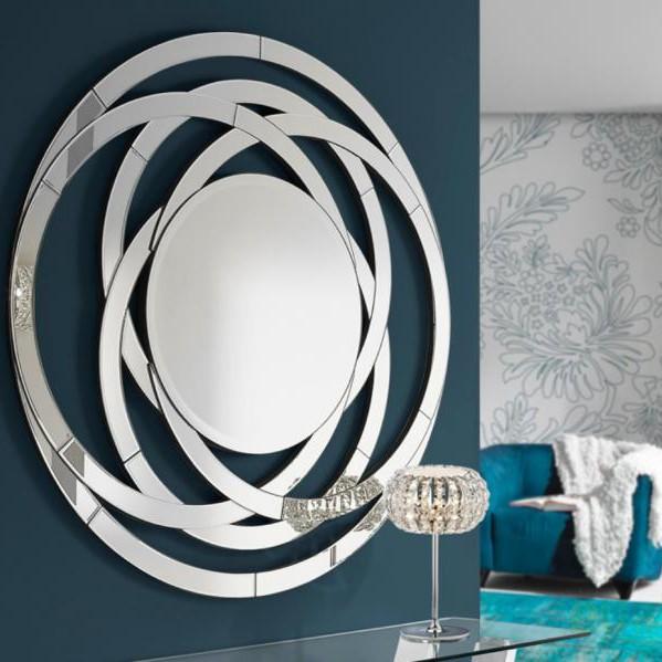 Oglinda decorativa moderna diam.120cm Aros 385314, MOBILA SI DECORATIUNI , Corpuri de iluminat, lustre, aplice, veioze, lampadare, plafoniere. Mobilier si decoratiuni, oglinzi, scaune, fotolii. Oferte speciale iluminat interior si exterior. Livram in toata tara.  a