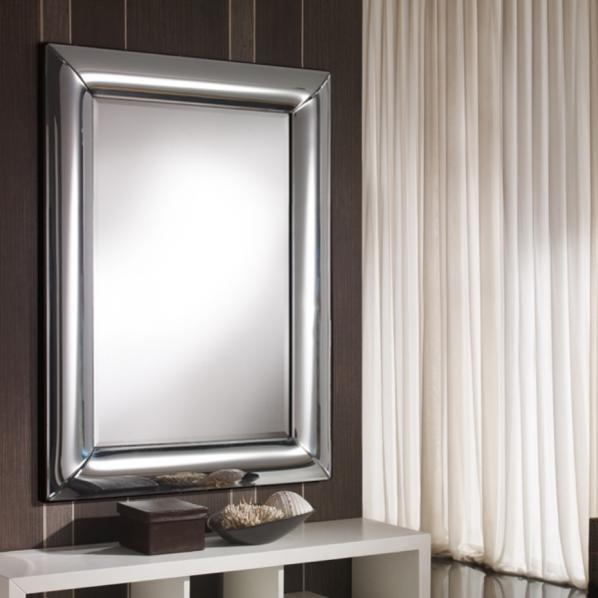 Oglinda decorativa moderna dim.103x75cm Curves 651542, MOBILA SI DECORATIUNI , Corpuri de iluminat, lustre, aplice, veioze, lampadare, plafoniere. Mobilier si decoratiuni, oglinzi, scaune, fotolii. Oferte speciale iluminat interior si exterior. Livram in toata tara.  a