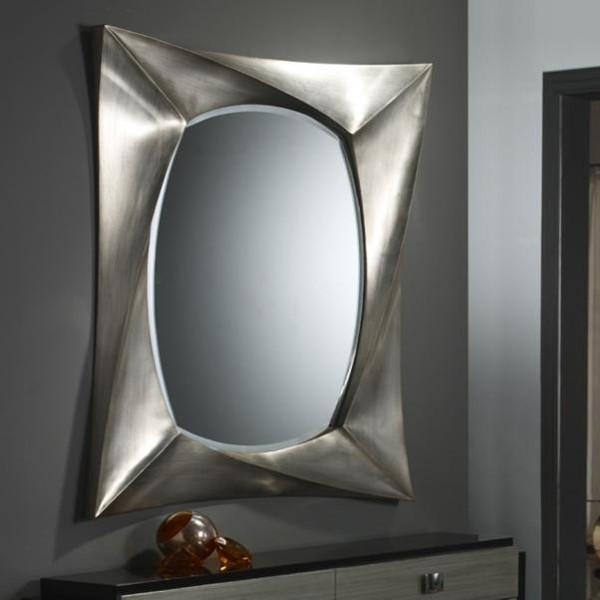Oglinda decorativa avangard dim.112x85cm Rectangular Deco 681681, MOBILA SI DECORATIUNI , Corpuri de iluminat, lustre, aplice a