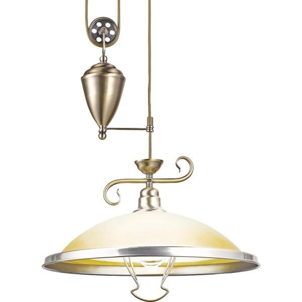 Pendul flexibil diametru 41cm Sassari 6905Z GL, ILUMINAT INTERIOR RUSTIC, Corpuri de iluminat, lustre, aplice a