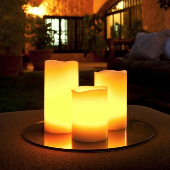Set de 3 lumanari decorative cu LED si telecomanda 521011, Lampi LED si Telecomanda, Corpuri de iluminat, lustre, aplice a