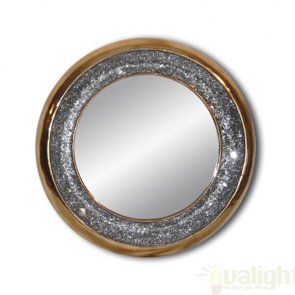 Oglinda decorativa Gaudi diam.94cm 131730 gold, MOBILA SI DECORATIUNI , Corpuri de iluminat, lustre, aplice a