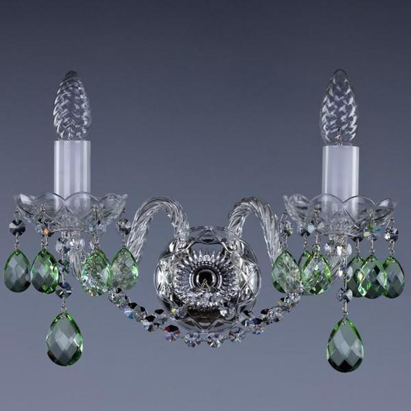 Aplica de perete cristal Bohemia MIRKA II.va nickel 5005 WL CE, Aplice Cristal Bohemia, Corpuri de iluminat, lustre, aplice, veioze, lampadare, plafoniere. Mobilier si decoratiuni, oglinzi, scaune, fotolii. Oferte speciale iluminat interior si exterior. Livram in toata tara.  a
