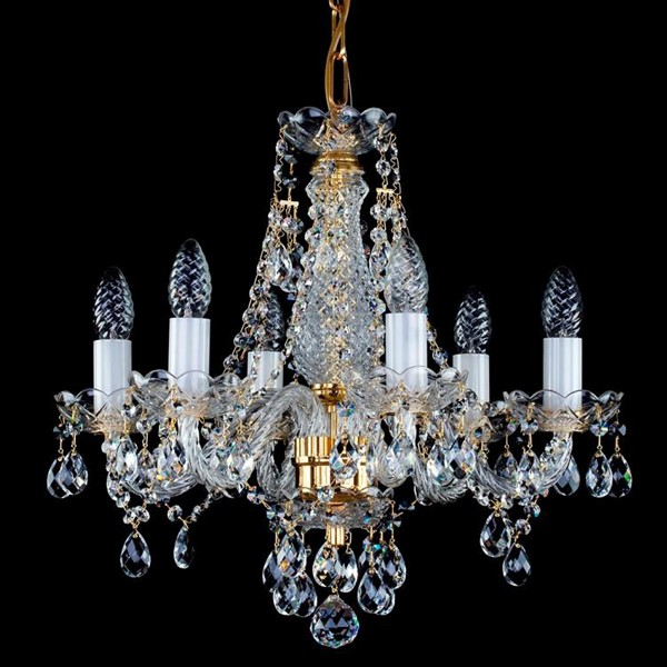 Candelabru cristal Bohemia 6 brate, diam. 48cm Magda VI CE, Candelabre, Lustre Cristal Bohemia, Corpuri de iluminat, lustre, aplice, veioze, lampadare, plafoniere. Mobilier si decoratiuni, oglinzi, scaune, fotolii. Oferte speciale iluminat interior si exterior. Livram in toata tara.  a