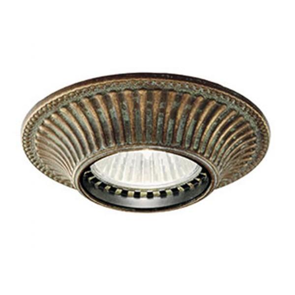Plafonier,Spot clasic antique brass diametru 10cm I Girasoli 208.07.OO, Spoturi incastrate, aplicate - tavan / perete, Corpuri de iluminat, lustre, aplice a