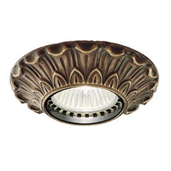 Plafonier,Spot clasic antique brass diametru 10cm I Girasoli 208.08.OO, Spoturi incastrate, aplicate - tavan / perete, Corpuri de iluminat, lustre, aplice a